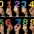 Children hands holding numbers. Black isolated multicolor number stock photo © deyangeorgiev