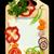cuaderno · recetas · pasta · especias · mesa · de · madera · libro - foto stock © deyangeorgiev