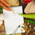 notebook · scrivere · ricette · verdura · in · giro · foglia - foto d'archivio © deyangeorgiev