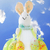 Paskalya · tavşan · gökyüzü · çim · çiftlik · tavşan - stok fotoğraf © dezign56