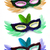 three colorful party face masks stock photo © dezign56
