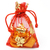 chinese new year gold ingots and coins in red decorative sachet stock photo © dezign56