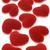 czerwony · aksamitu · serca · odizolowany · biały · dwa - zdjęcia stock © dezign56