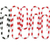 paper clips with zebra stripes stock photo © dezign56