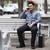 Hispanic · бизнесмен · сидят · скамейке · портфель · складе - Сток-фото © dgilder