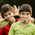 мужчины · ребенка · гримаса · молодые · Kid - Сток-фото © diego_cervo
