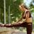女性 · 脚 · アップ · 行使 · 若い女性 · ヨガマット - ストックフォト © diego_cervo