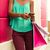 african american girl sending text messaging on phone shopping b stock photo © diego_cervo