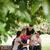 grupo · cuatro · feliz · amigos · reunión · hablar - foto stock © diego_cervo