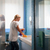 young woman doing chores and cleaning bathroom at home stock photo © diego_cervo