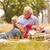 idős · férfi · eszik · freskó · ebéd · bor - stock fotó © diego_cervo