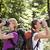 két · nő · kirándulás · erdő · néz · látcső · fiatalok - stock fotó © diego_cervo