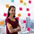 忙しい · ビジネス女性 · ペン · 口 · 接着剤 · ノート - ストックフォト © diego_cervo