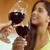 kettő · gyönyörű · nők · vörösbor · iszik · bor - stock fotó © diego_cervo