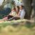 mutlu · açık · havada · kadın · çim · yaz - stok fotoğraf © diego_cervo