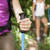 young women trekking in forest and holding stick stock photo © diego_cervo