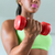 ホーム · フィットネス · 黒人女性 · 訓練 · 上腕二頭筋 - ストックフォト © diego_cervo