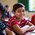 笑い · 小さな · 男子生徒 · 座って · 教室 · デスク - ストックフォト © diego_cervo