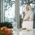 portre · mutlu · kıdemli · kadın · kahvaltı · oturma - stok fotoğraf © diego_cervo