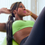 home fitness black woman training abs with swiss ball stock photo © diego_cervo