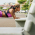 kadın · park · yaz · egzersiz · kas - stok fotoğraf © diego_cervo