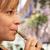 young woman smokes e cig electronic cigarette stock photo © diego_cervo