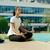 pracownik · biurowy · jogi · posiedzenia · szafka · medytacji - zdjęcia stock © diego_cervo