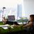ufficio · felice · impiegati · verde · cartella - foto d'archivio © diego_cervo