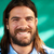moço · longo · barba · sorridente · jaqueta · de · couro - foto stock © diego_cervo