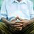 dalgın · yaşlı · adam · oturma · bank · park - stok fotoğraf © diego_cervo