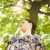 genç · kadın · park · üzücü · kadın · ağaç - stok fotoğraf © diego_cervo