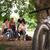 groep · glimlachend · tieners · huiswerk · vergadering · bibliotheek - stockfoto © diego_cervo