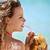 retrato · mulher · relaxante · coquetel · cubano · praia - foto stock © diego_cervo