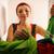 улыбающаяся · женщина · моющее · средство · молодые · внутри · стиральная · машина - Сток-фото © diego_cervo