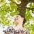 Park · lächelnd · anziehend · Frau - stock foto © diego_cervo