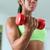 ホーム · フィットネス · 黒人女性 · 訓練 · 上腕二頭筋 · 重み - ストックフォト © diego_cervo
