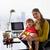 multitâche · mère · fille · maman · femme · d'affaires · travail - photo stock © diego_cervo