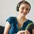mulher · eletrônica · verde · branco · composição · digital · tecnologia - foto stock © diego_cervo