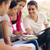 főiskola · diákok · park · barátok · oktatás · csoport - stock fotó © diego_cervo