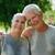 retrato · ancianos · Pareja · fitness · parque · feliz - foto stock © diego_cervo