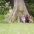 három · boldog · női · barátok · ül · nagy - stock fotó © diego_cervo