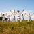 karate school with trainers and young boys showing fighting tech stock photo © diego_cervo