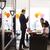 gelukkig · cake · kantoor · verjaardagsfeest · corporate - stockfoto © diego_cervo
