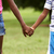 children in love black boy and girl holding hands stock photo © diego_cervo