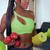 ホーム · フィットネス · 黒人女性 · 訓練 · ボール - ストックフォト © diego_cervo