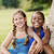dos · feliz · femenino · amigos · mirando - foto stock © diego_cervo