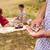 abuelo · nieto · picnic · sonriendo · feliz · nino - foto stock © diego_cervo