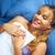 liefde · brief · meisje · briefkaart · hand · glimlach - stockfoto © diego_cervo