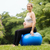 pregnant woman belly swiss fit ball workout park stock photo © diego_cervo