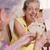 sorrindo · cartas · de · jogar · sorridente · jogar · cartão - foto stock © diego_cervo